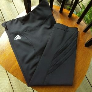 Adidas Climate Capri Black Workout Leggings Med.